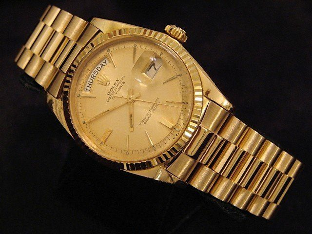 Gold Colour Rolex Watch