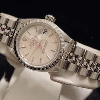 Ladies Rolex Stainless Steel Date Silver  79240 (SKU A384208MT)