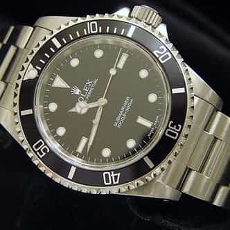 Mens Rolex Stainless Steel Submariner Black  14060M (SKU F613586NNMT)