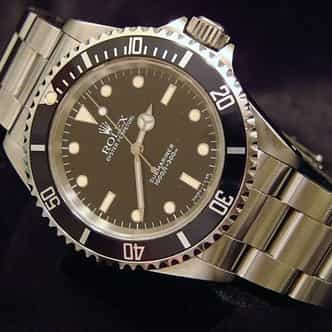 Mens Rolex Stainless Steel Submariner Black  14060 (SKU E837233NNCMT)