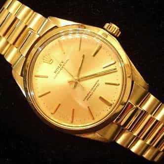 Mens Rolex 14K Yellow Gold Oyster Perpetual Champagne  1005 (SKU 2251111NNCMT)
