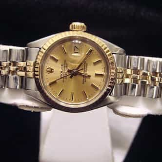 Ladies Rolex Two-Tone 14K/SS Datejust Champagne  6917 (SKU 566MT)
