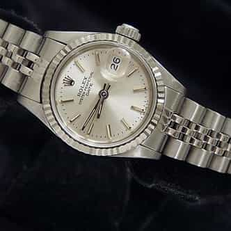 Ladies Rolex Stainless Steel Date Silver  69174 (SKU 8460465MT)