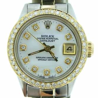 Ladies Rolex Two-Tone 14K/SS Datejust White MOP Diamond (SKU 2461139MT)