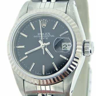 Ladies Rolex Stainless Steel Date Black  69174 (SKU 8772828MT)