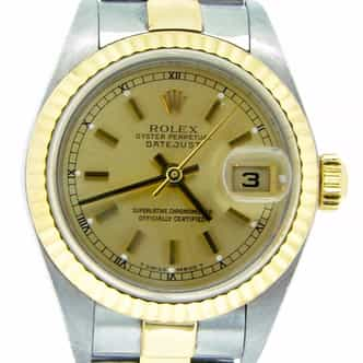 Ladies Rolex Two-Tone 18K/SS Datejust Champagne  79173 (SKU K143064MT)