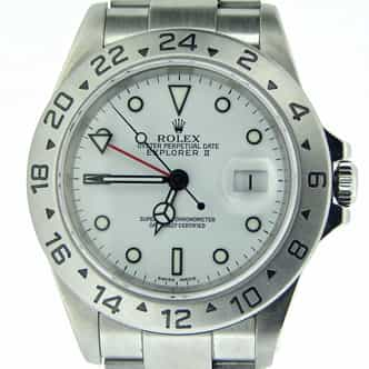 Mens Rolex Stainless Steel Explorer II White  16570 (SKU K231361MT)