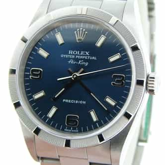Mens Rolex Stainless Steel Air-King Blue Arabic 14010M (SKU K281554CMT)