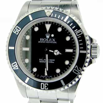 Mens Rolex Stainless Steel Submariner Black  14060 (SKU S247995BCMT)