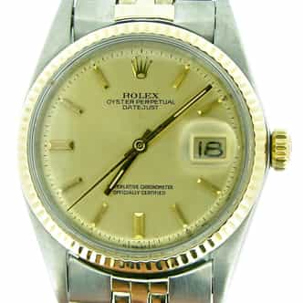 Mens Rolex Two-Tone 14K/SS Datejust Champagne  1601 (SKU 3592750MT)