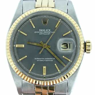Mens Rolex Two-Tone 14K/SS Datejust Gray Slate  1601 (SKU 1000516BCMT)