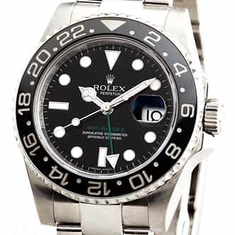 Mens Rolex GMT Master II Ref 116710 Stainless Steel With Black Ceramic (SKU 116710GMTNNMT)