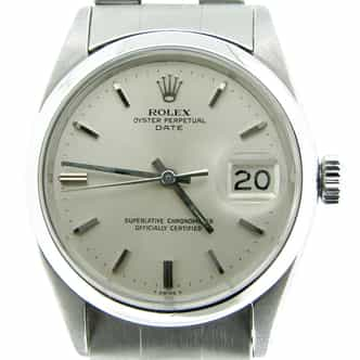 Mens Rolex Stainless Steel Date Silver  1500 (SKU 1364734DMT)