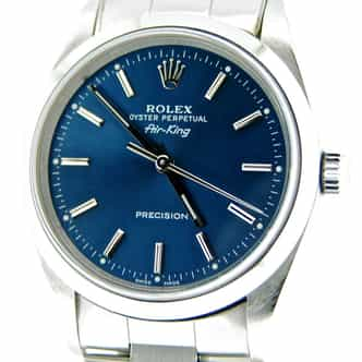 Mens Rolex Stainless Steel Air-King Blue  14000 (SKU P694496CMT)