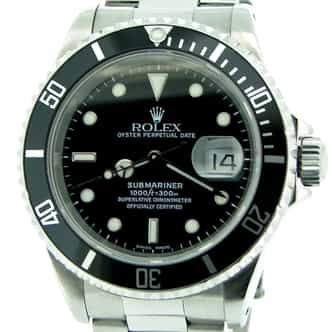 Mens Rolex Stainless Steel Submariner Black  16610 (SKU E866021NNBCMT)
