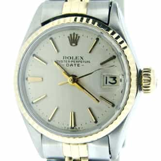 Ladies Rolex Two-Tone 14K/SS Date Silver  6517 (SKU 1817063MT)