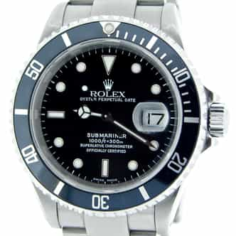 Mens Rolex Stainless Steel Submariner Black  16610 (SKU P378669NNBCMT)