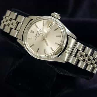 Ladies Rolex Stainless Steel Date Silver  6516 (SKU 1163652MT)