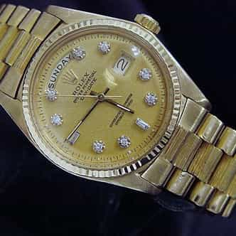 Mens Rolex 18K Gold Day-Date President Champagne Diamond (SKU 5267991MT)