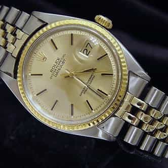Mens Rolex Two-Tone 14K/SS Datejust Champagne  1601 (SKU 680749MT)