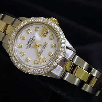Ladies Rolex Two-Tone 14K/SS Datejust White MOP Diamond (SKU 3006516MT)