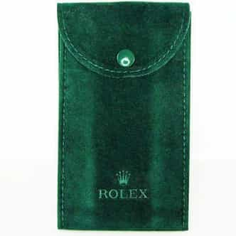 Genuine Rolex Dark Green Velvet Watch (Timepiece) Pouch Bag (SKU 2349)