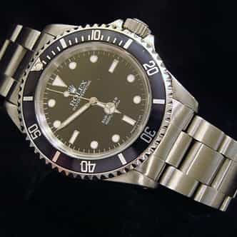 Mens Rolex Stainless Steel Submariner Black  14060 (SKU T500577NNBCMT)