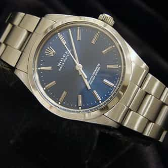 Mens Rolex Stainless Steel Oyster Perpetual Blue  1002 (SKU R838796CMT)