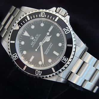 Mens Rolex Stainless Steel Submariner Black  14060 (SKU E947346NNBCMT)