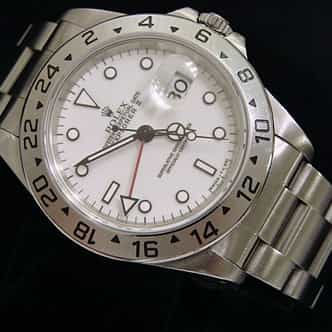 Mens Rolex Stainless Steel Explorer II White  16570 (SKU T590025MT)