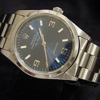 Mens Rolex Stainless Steel Air-King Blue Arabic 14000 (SKU U600794CMT)