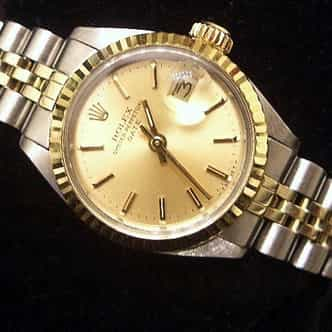 Ladies Rolex Two-Tone 14K/SS Date Champagne  6917 (SKU 407MT)