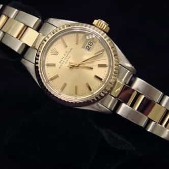 Ladies Rolex Two-Tone Date Champagne  6917 (SKU 6576237MT)