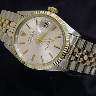 Mens Rolex Two-Tone Date Silver (SKU 2282908MT)