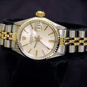 Ladies Rolex Two-Tone 14K/SS Date Silver  6517 (SKU 1624972MT)