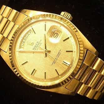 Mens Rolex 18K Gold Day-Date President Champagne  1803 (SKU 1911111MT)