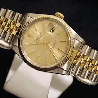 Mens Rolex Two-Tone 18K/SS Datejust Champagne  16013 (SKU 5315916MT)