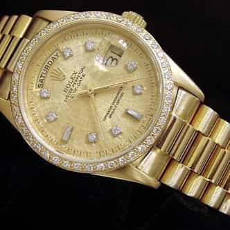 Mens Rolex 18K Gold Day-Date President Champagne Diamond (SKU 8441452MT)