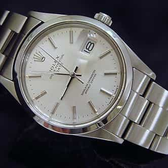 Mens Rolex Stainless Steel Date Silver  15000 (SKU 7075968MT)