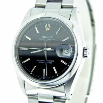 Mens Rolex Stainless Steel Date Black  15200 (SKU E144818)