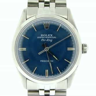 Mens Rolex Stainless Steel Air-King Blue  5500 (SKU 3646581ACMT)