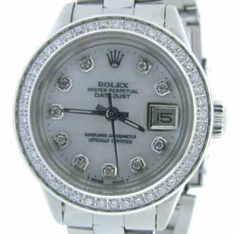 Ladies Rolex Stainless Steel Datejust White MOP Diamond (SKU 3211539AMT)