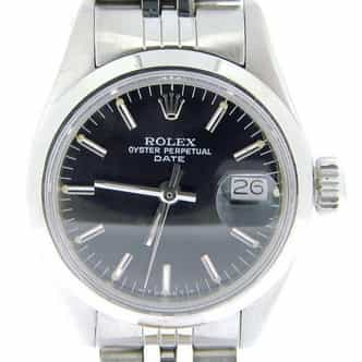 Ladies Rolex Stainless Steel Date Black  6916 (SKU 4068314AMT)