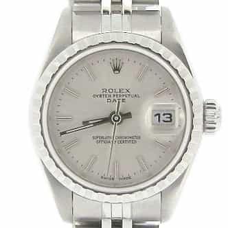 Ladies Rolex Stainless Steel Date Silver  79240 (SKU Y938732NMT)