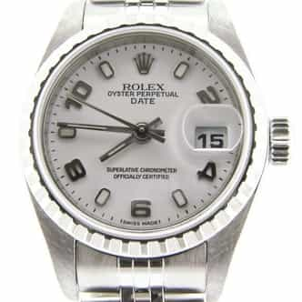 Ladies Rolex Stainless Steel Date White Arabic 79240 (SKU y263216NMT)