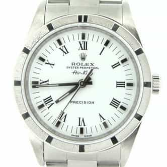 Mens Rolex Stainless Steel Air-King White Roman 14010 (SKU P222464ACMT)