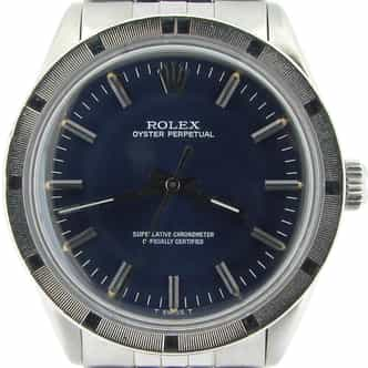 Mens Rolex Stainless Steel Oyster Perpetual Blue  1007 (SKU 8079675ANNCMT)