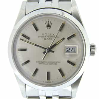 Mens Rolex Stainless Steel Date Silver  15000 (SKU 7266650NMT)