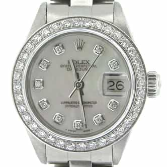 Ladies Rolex Stainless Steel Datejust White MOP Diamond (SKU 5012907NMT)