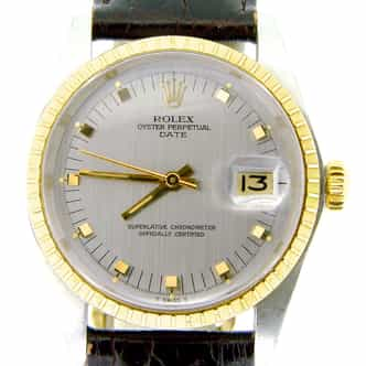 Mens Rolex Two-Tone 14K/SS Date Gray Slate  1505 (SKU 5219906NMT)